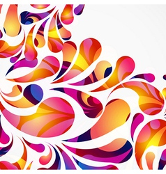 Decorative background made of colorful arc drops vector image