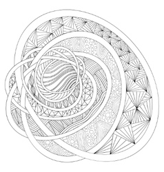 Decorative drawing Zentangle vector image