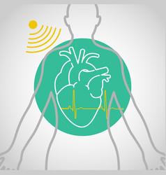 Echocardiogram logo icon design vector