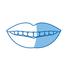 Femlae mouth lips teeth smile vector