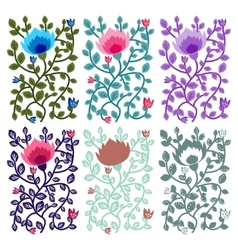 Floral decorative cards vector image