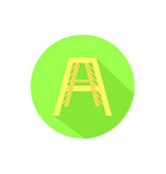 icon stairs on an isolated white background vector image vector image