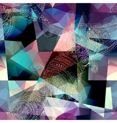 Imitation of cubism style painting vector