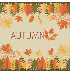 leaves and mandalas autumn decorations vector image