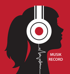 listening to the music vector image
