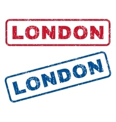 London rubber stamps vector