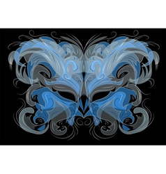 ornate masks vector image vector image