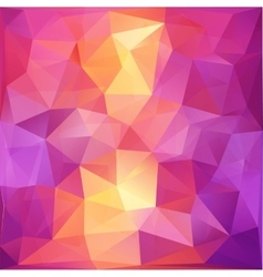 Pink and orange triangles abstract background vector image vector image