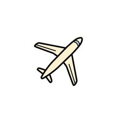 Plane aero cargo icon vector