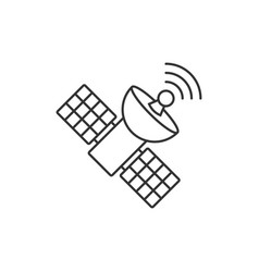 satellite outline icon vector image