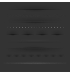 Set Of Dividers On Dark vector image