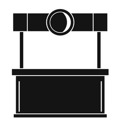 shopping counter icon simple style vector image
