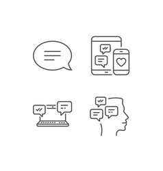 speech bubble message and communication icons vector image