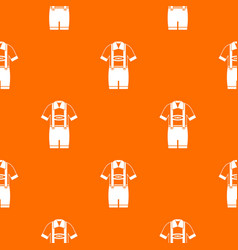 T-shirt and pants with suspenders pattern seamless vector