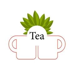 Tea isolated vector image