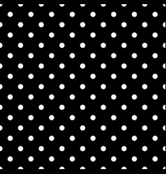 Tile pattern with white polka dots on black vector