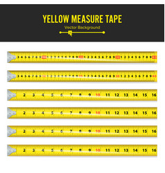 Yellow measure tape measure tool equipment vector