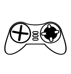 Control console game funny outline vector
