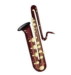 A musical bass saxophone vector