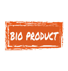 Bio product hand drawn isolated label vector