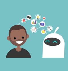 Data transfer conceptual human and robot vector