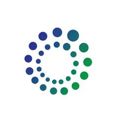 Circle dot technology logo vector