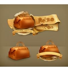 Vintage bag icon vector image