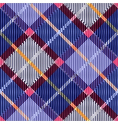 Checkered seamless diagonal tartan texture vector
