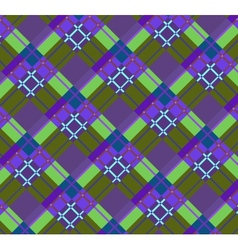 Violet-green plaid fabric vector