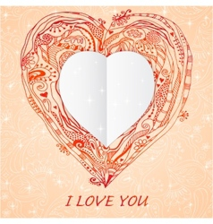 Template frame design for love card vector
