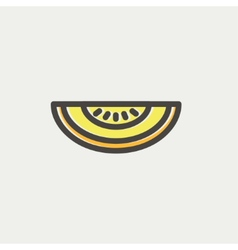 Melon thin line icon vector