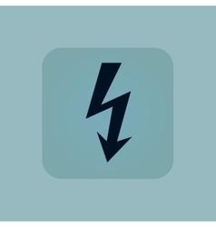 Pale blue voltage icon vector