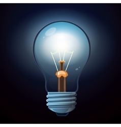 glow lamp vector image