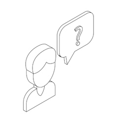 Male consultant and speech bubble icon vector