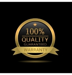 Quality guaranteed badge vector
