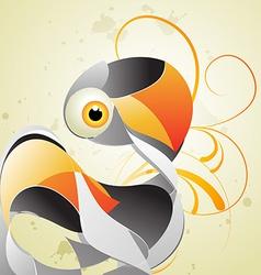 artistic swan vector image