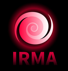 Banner of hurricane irma icon sign symbol vector