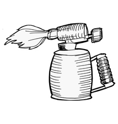 blowlamp vector image vector image