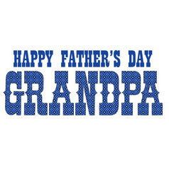 Blue bandana grandpa fathers day vector