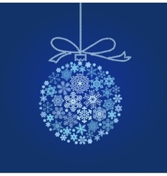 Blue Christmas ball - vector image vector image