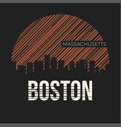 boston city t-shirt design typography vector image vector image