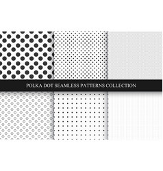 collection of seamless dots patterns polka dot vector image