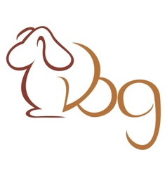 Dog symbol vector image vector image
