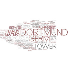Dortmund word cloud concept vector