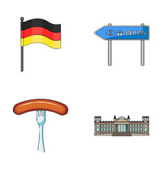 flag symbol germany and other web icon in vector image