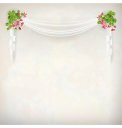 Floral vintage wedding background vector