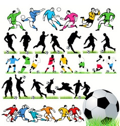 football players set vector image vector image