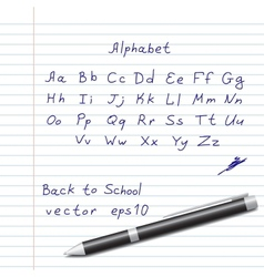 Hands Draw Alphabet vector image vector image