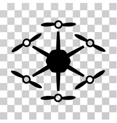 hexacopter icon vector image vector image