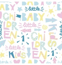 Kids seamless pattern with funny letters vector image